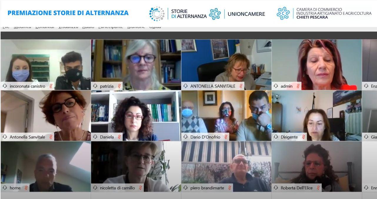 Videoconferenza storie di alternanza